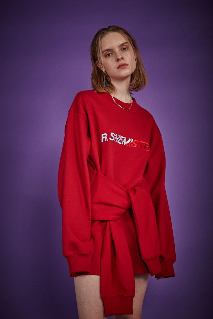알쉬미스트(R.SHEMISTE) 타이 자수 원피스 - RED
