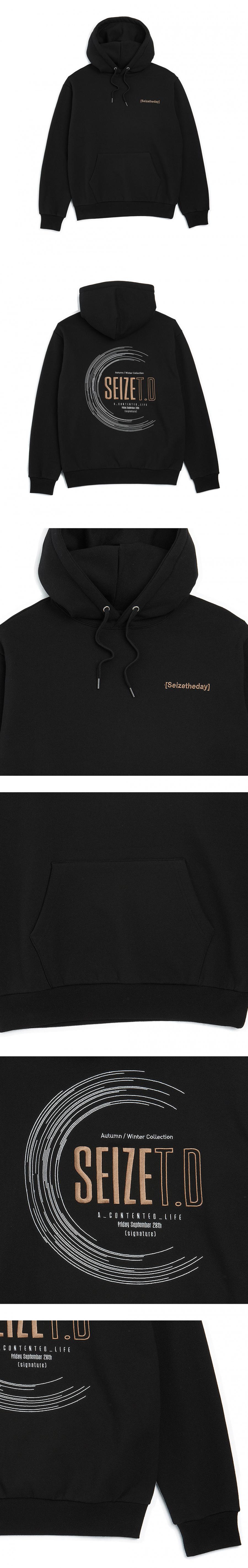 시즈더데이(SEIZETHEDAY) 콤플렉스 라운딩 후드 블랙