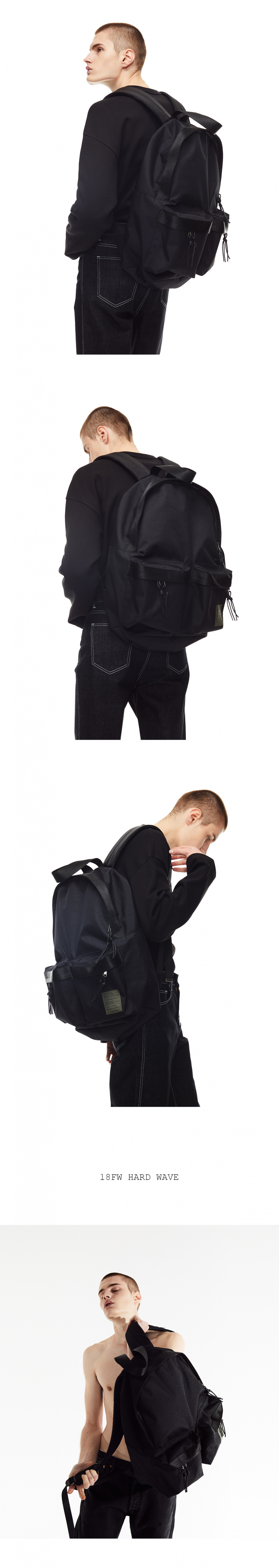 메종미네드(MAISON MINED) TWO POCKET BACKPACK