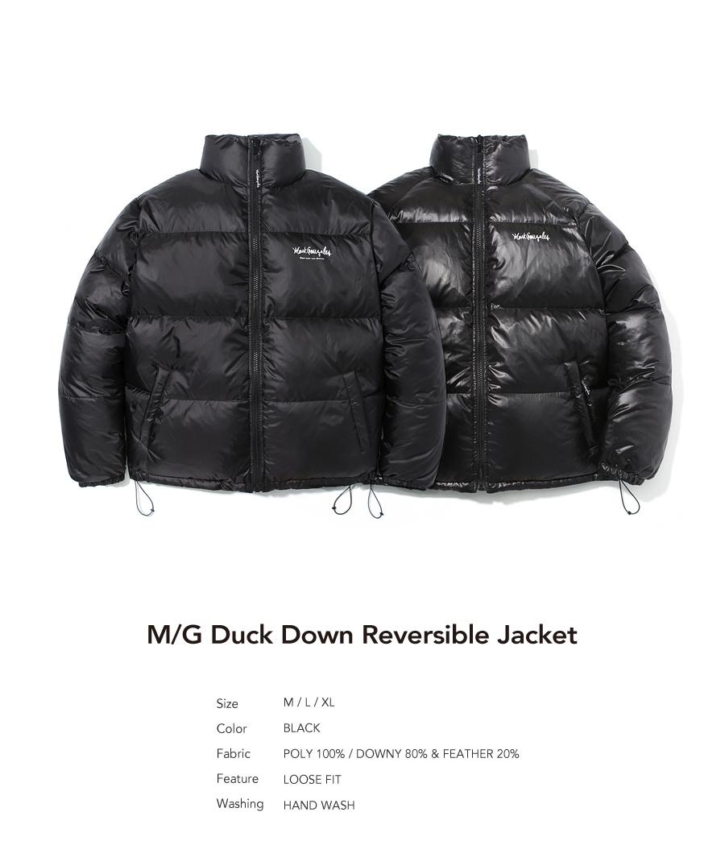 마크 곤잘레스(MARK GONZALES) M/G DUCK DOWN REVERSIVEL JACKET