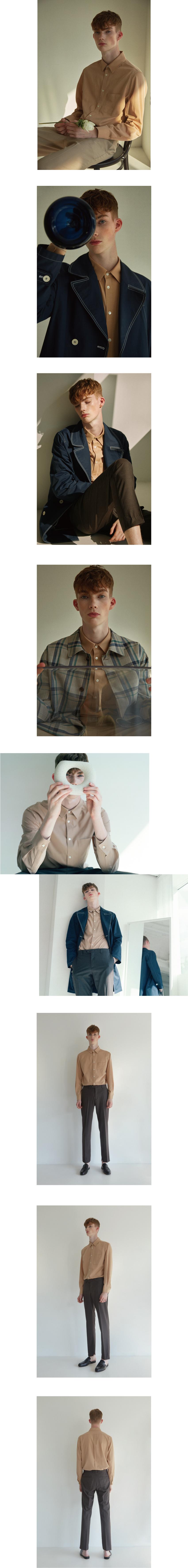 로사이어티(ROCIETY) 스탠다드 리파인드 베이지 셔츠