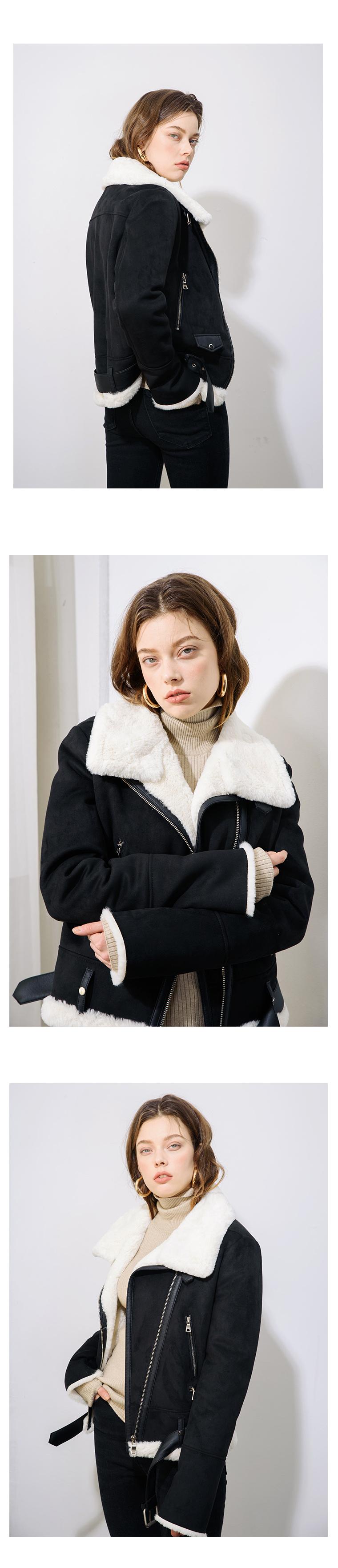 모노클로즈(MONOCLOTHES) 스웨이드 무스탕 자켓 WHITE
