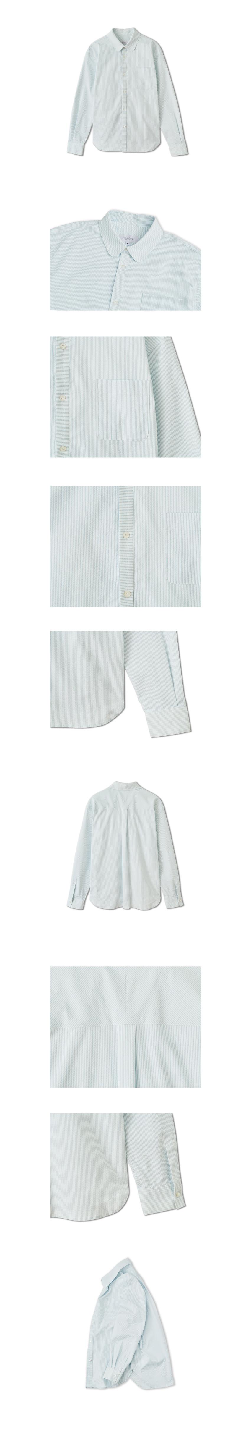 로사이어티(ROCIETY) 라운드 칼라 스트라이프 셔츠