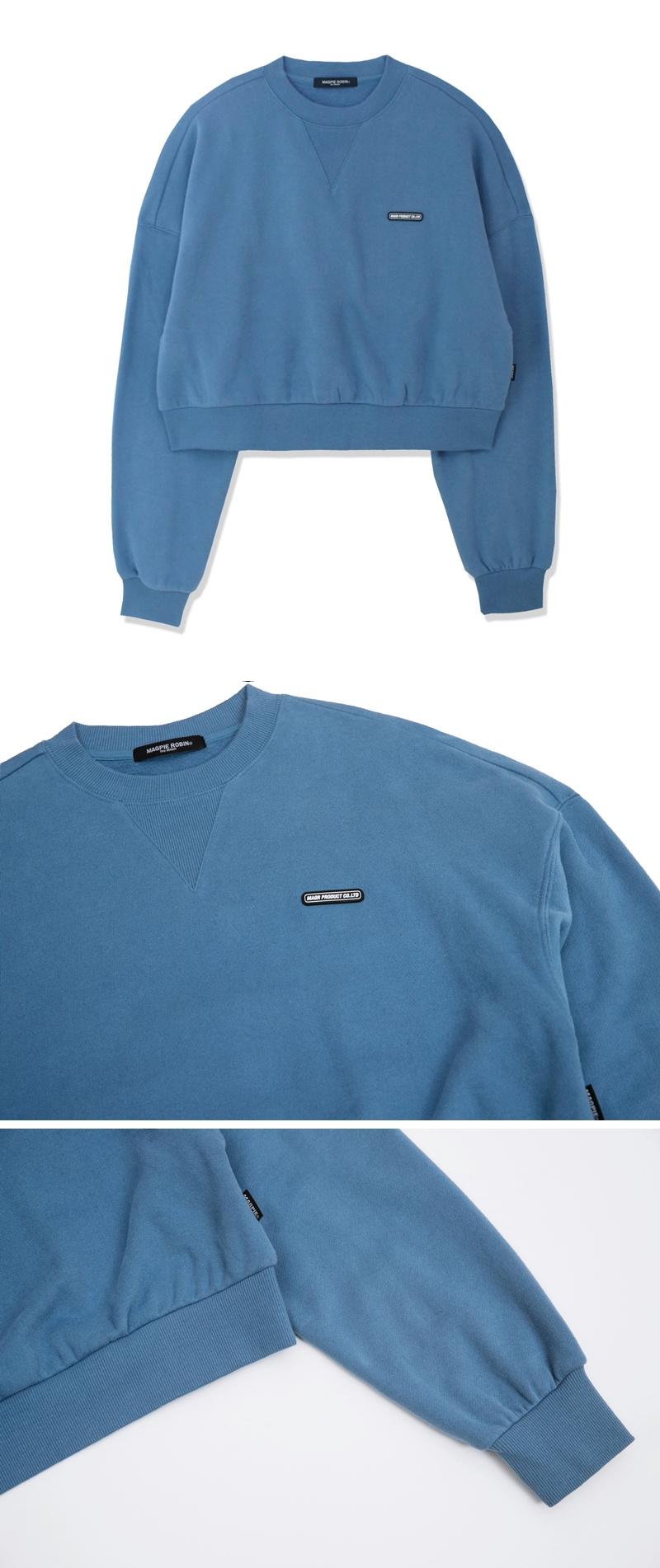 맥파이로빈(MAGPIEROBIN) 파스텔 맨투맨(블루)(퍼플)