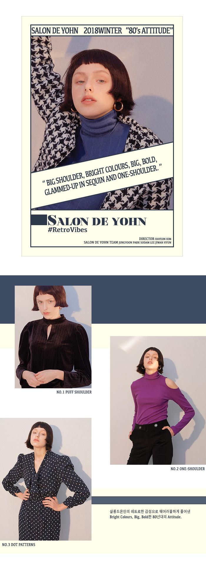 살롱 드 욘(SALON DE YOHN) Black Tweed Coat