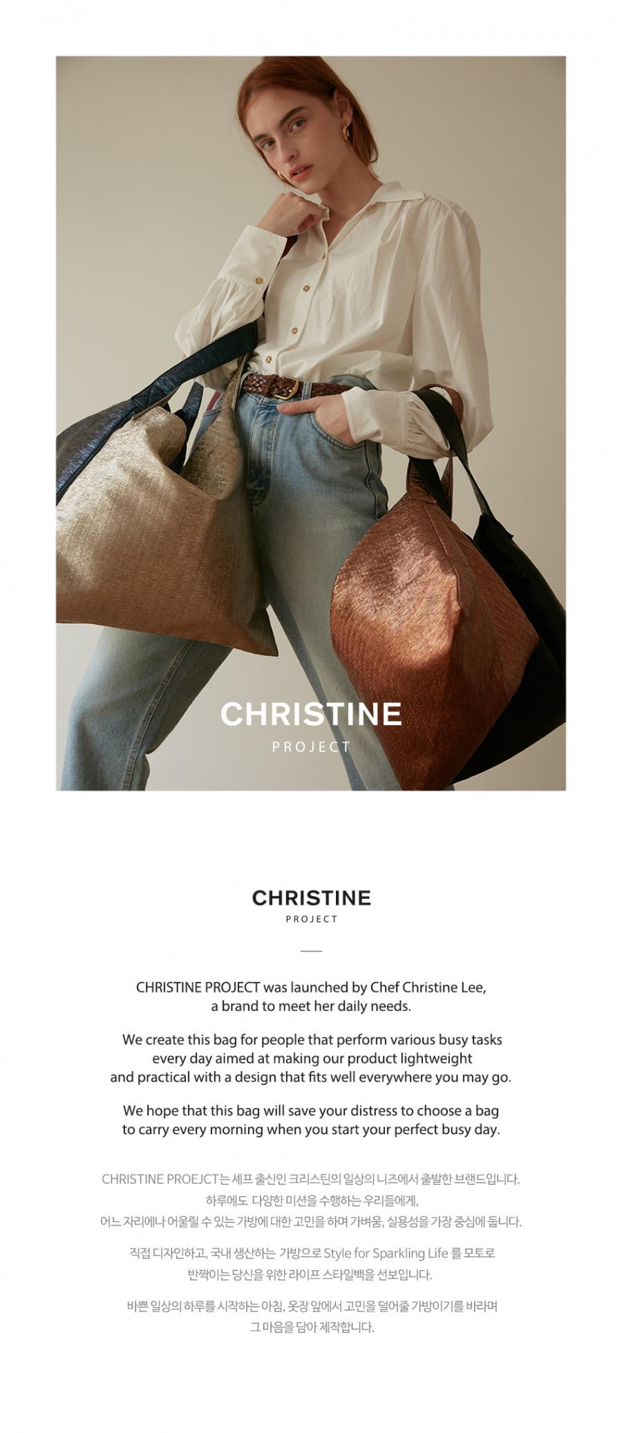 크리스틴 프로젝트(CHRISTINE PROJECT) SPARKLING STYLE BAG DIAMOND(GRAY) 스스백다이아