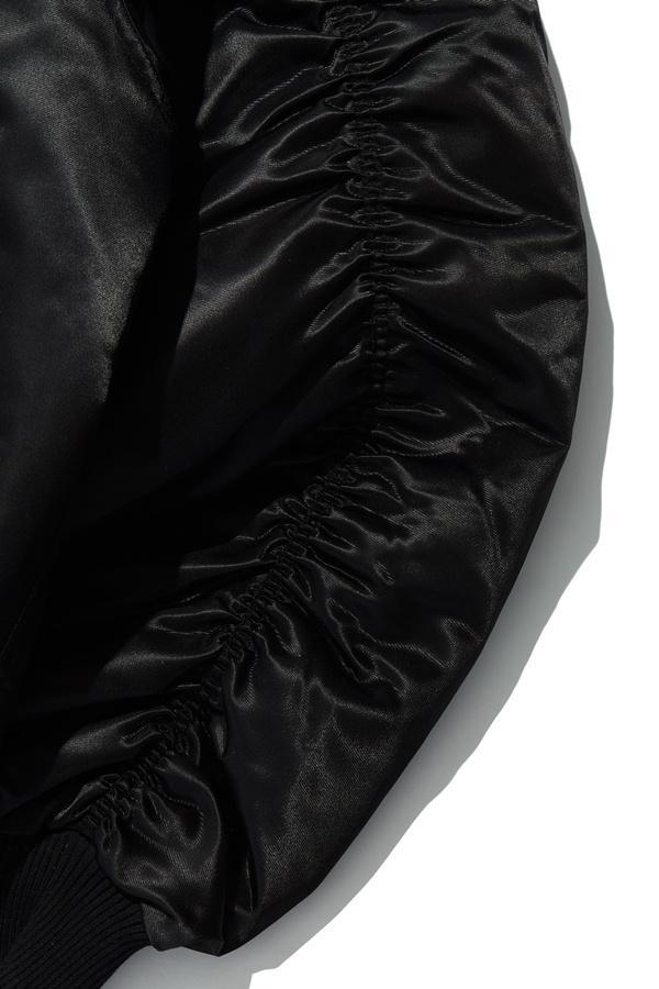 오베르(OVERR) TOME.5 INCISION SHIRRING  BLACK MA-1