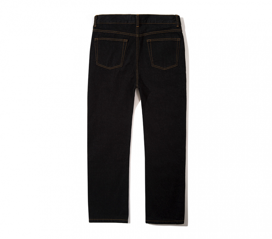 블랙하인드(BLACKHIND) 13oz denim pants-black-