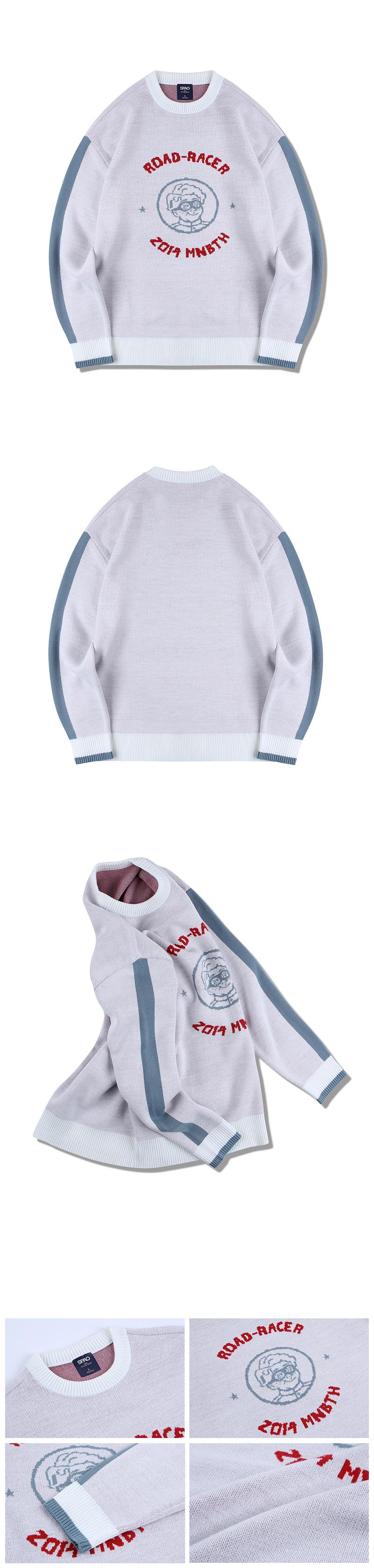 메인부스(MAINBOOTH) (MAINBOOTHxSPAO) 그래픽 스웨터(WHITE)