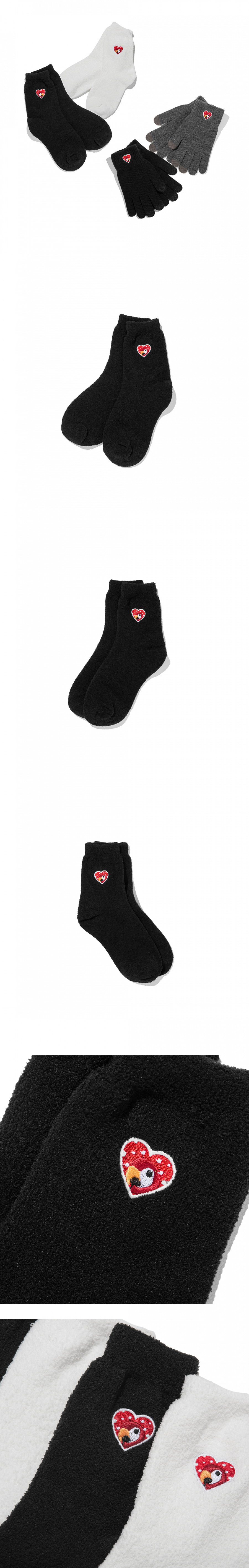 칸코(KANCO) KANCO X-MAS LOGO WARM SOCKS black