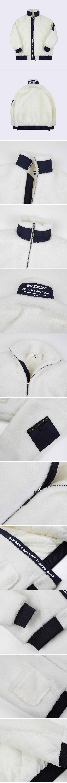 매카이(MACKAY) MKY Dumble Boa Oversize Jacket Creamnavy