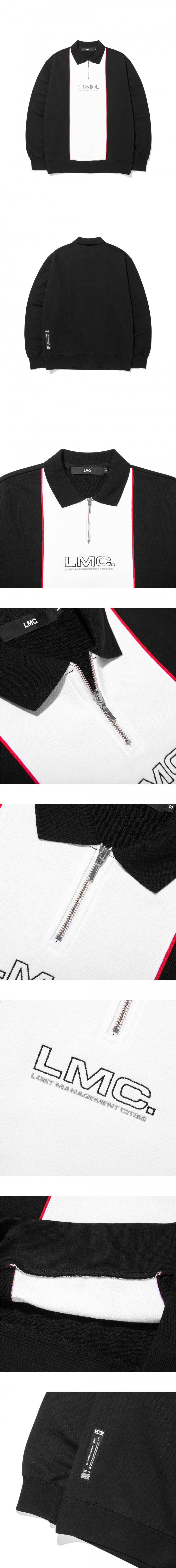 엘엠씨(LMC) LMC COLLAR QUARTER ZIP SWEATSHIRT black