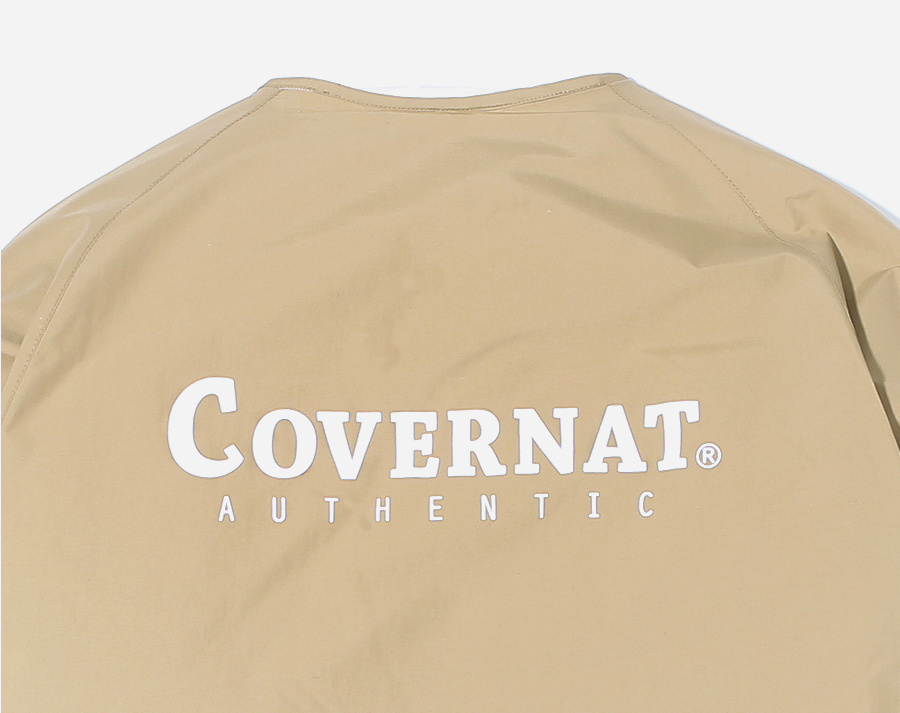 커버낫(COVERNAT) REVERSIBLE NOCOLLAR FLEECE JACKET BEIGE