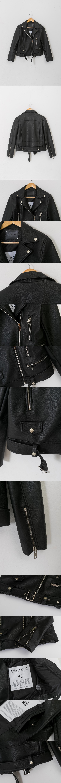 레이디 볼륨(LADY VOLUME) 19 zipper belt riders  jacket 2