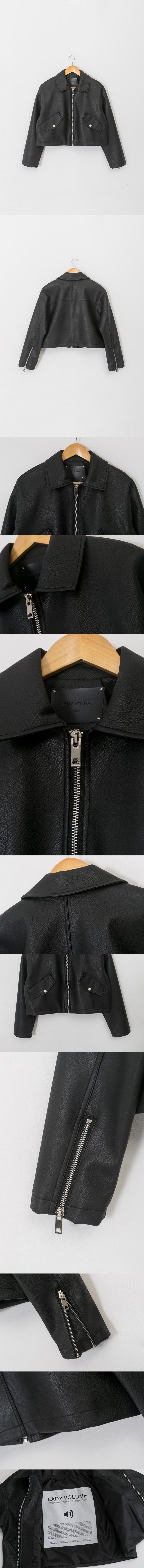 레이디 볼륨(LADY VOLUME) overfit blouson riders jacket