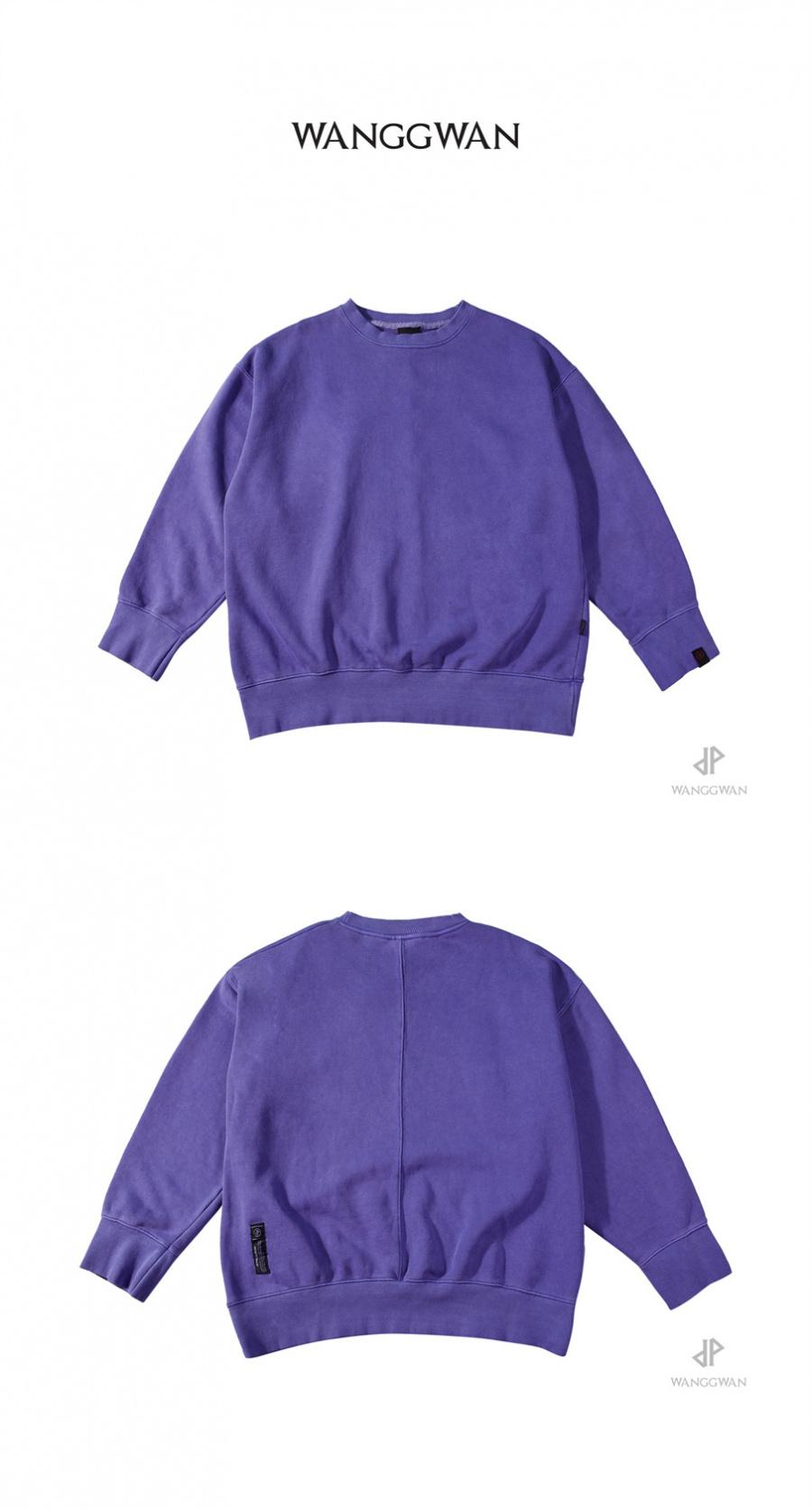 왕관(WANGGWAN) 피그먼트 오버핏 맨투맨 (Violet)