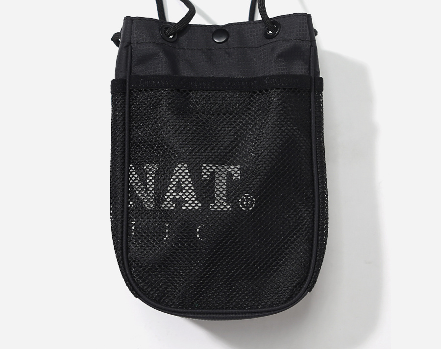 커버낫(COVERNAT) AUTHENTIC LOGO POUCH BAG BLACK