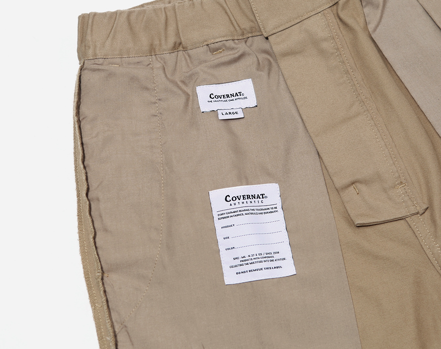 커버낫(COVERNAT) COTTON TWILL SLIM EASY PANTS BEIGE