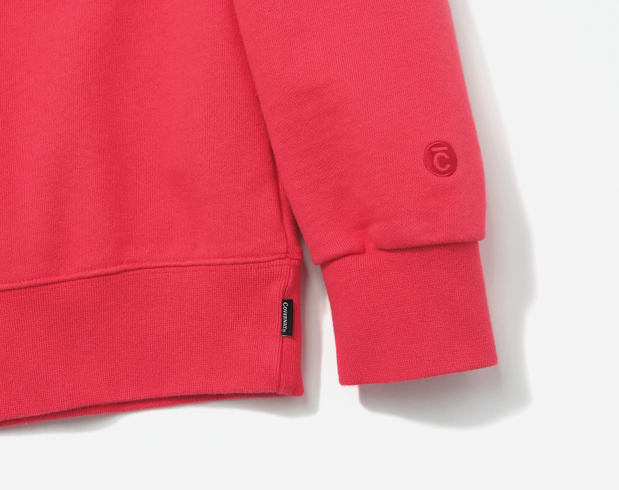 커버낫(COVERNAT) SMALL AUTHENTIC LOGO CREWNECK PINK RED