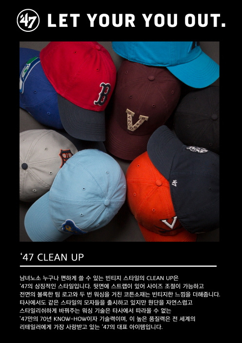 47브랜드(47 BRAND) NEW ENGLAND PATRIOTS CHARCOAL 47 CLEAN UP