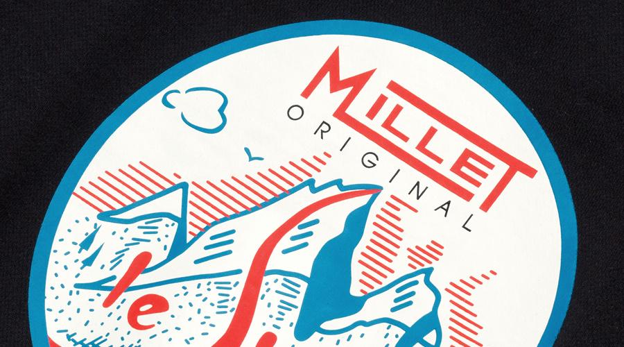 밀레 클래식(MILLET CLASSIC) 빈티지 그래픽 크루넥_블랙