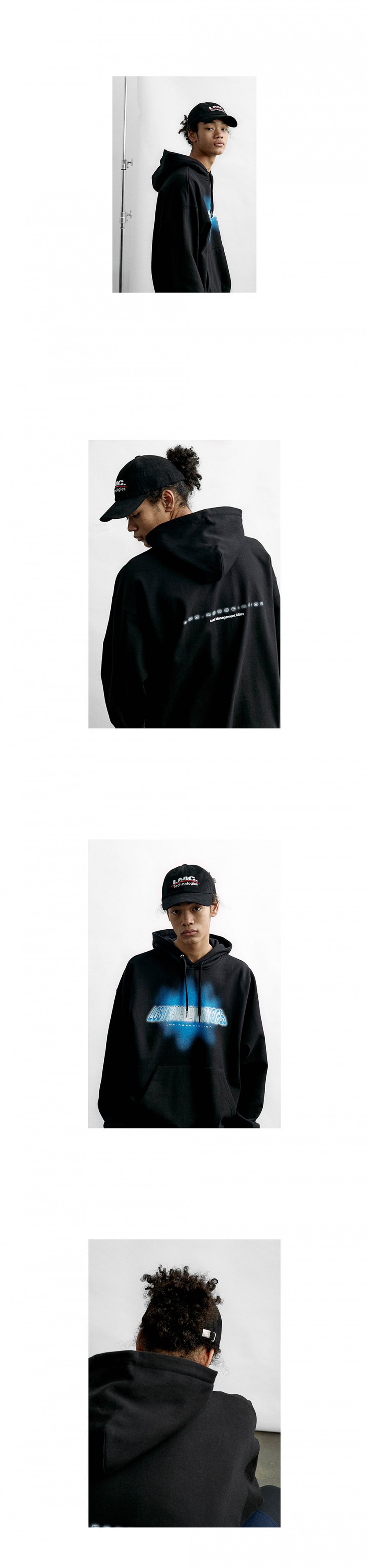 엘엠씨(LMC) LMC TECH LOGO 6 PANEL CAP black