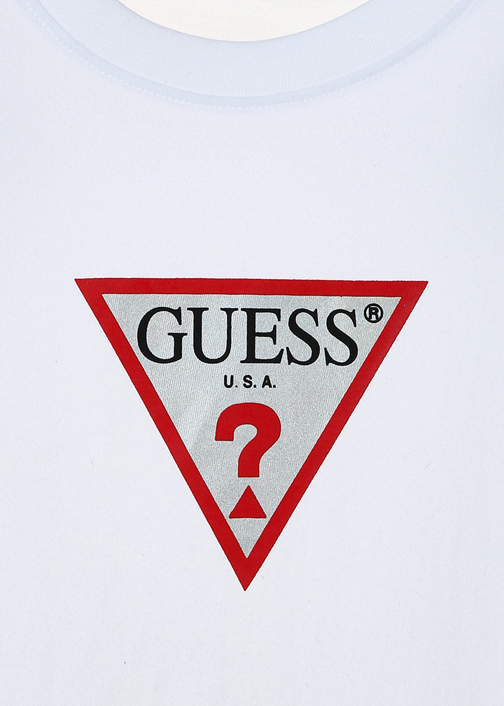게스(GUESS) [19S/S]남녀공용 게스 삼각 홀로그램 아이언맨 세미오버 반팔티