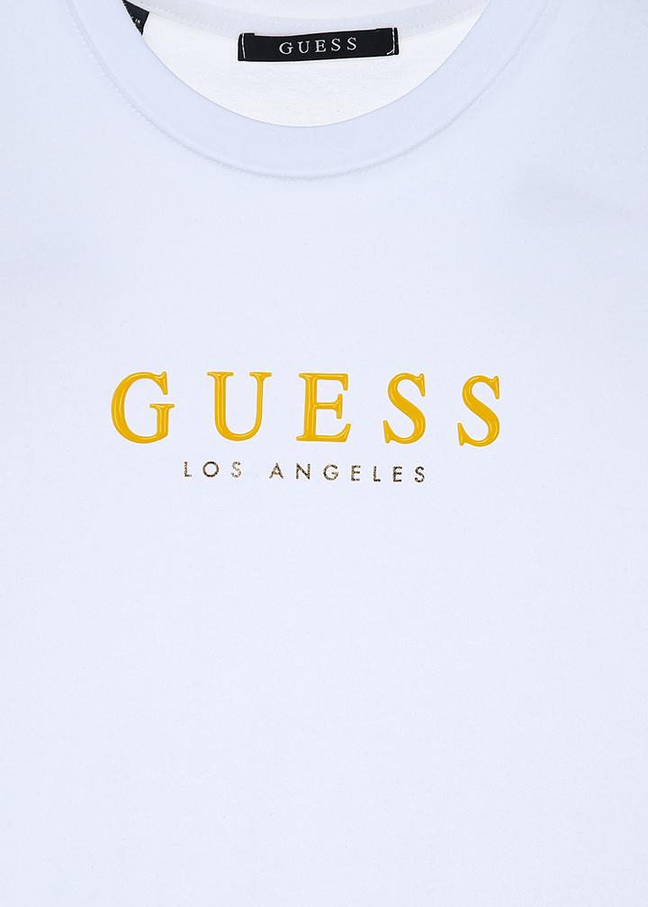 게스(GUESS) [19S/S]남녀공용 컬러 게스로고 PVC 반팔티