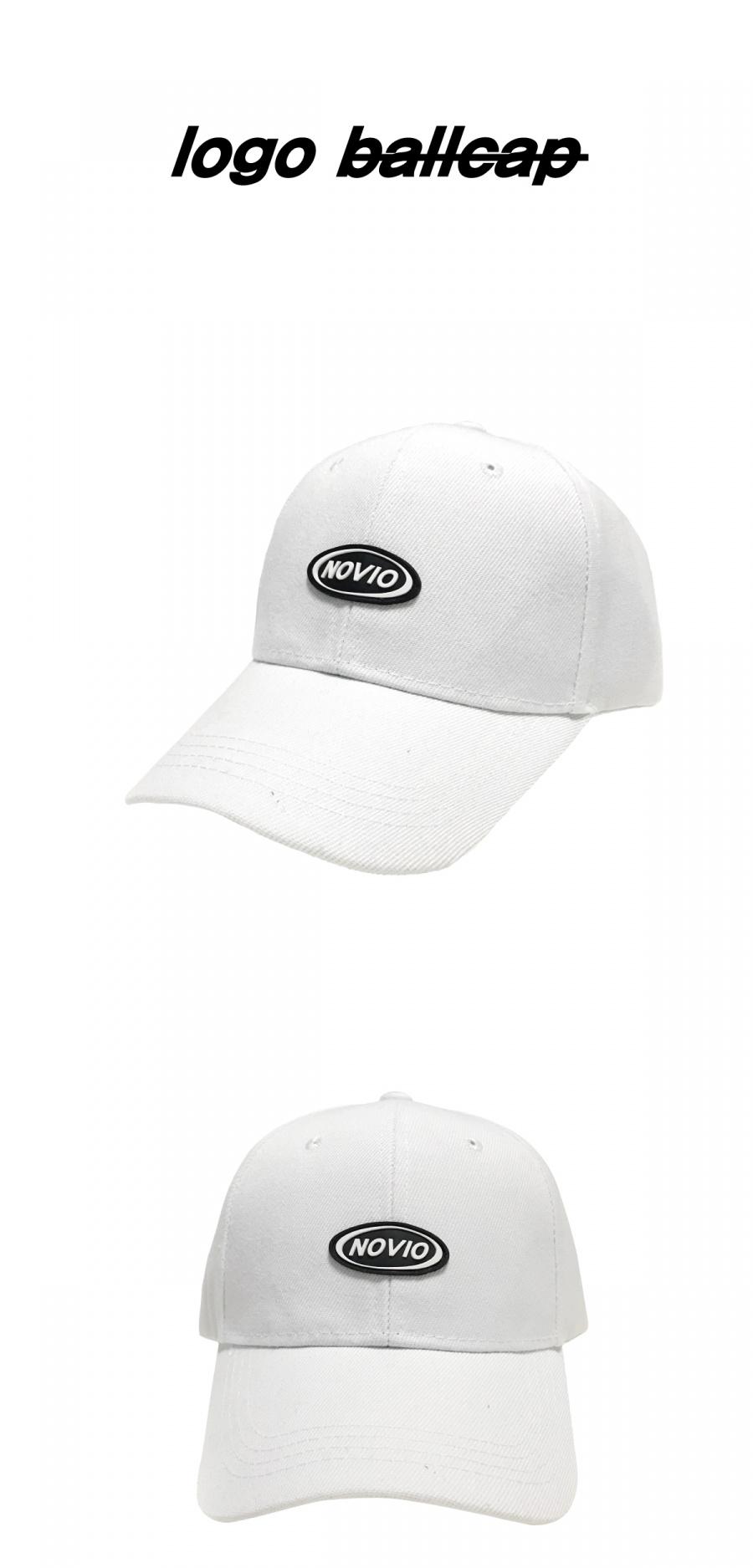 노비오(NOVIO) 로고 볼캡_화이트