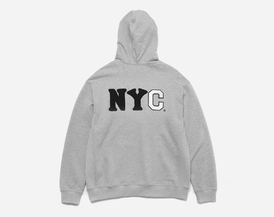 커버낫(COVERNAT) COVERNAT x EFF NYC HOODIE ZIP UP GRAY
