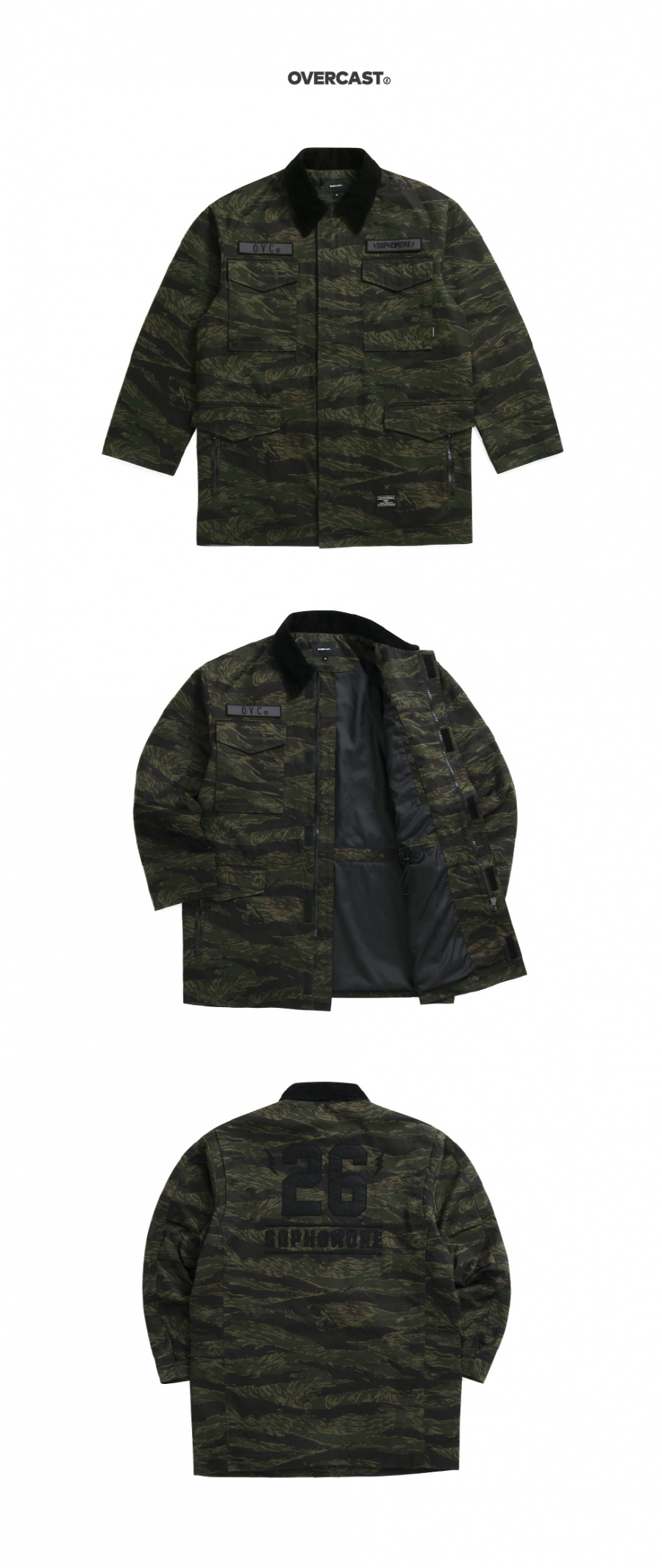 오버캐스트(OVERCAST) Tiger Camo Field Jacket