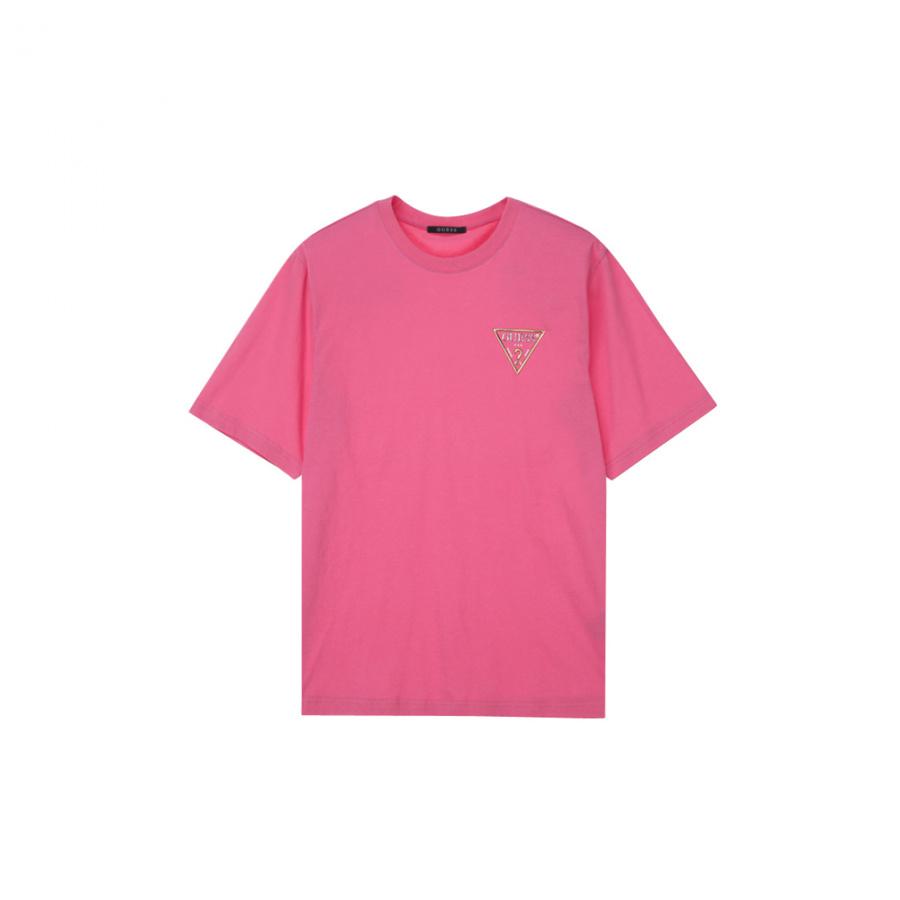 게스(GUESS) 남성 기획 투톤 PVC ▽ 반팔 티셔츠