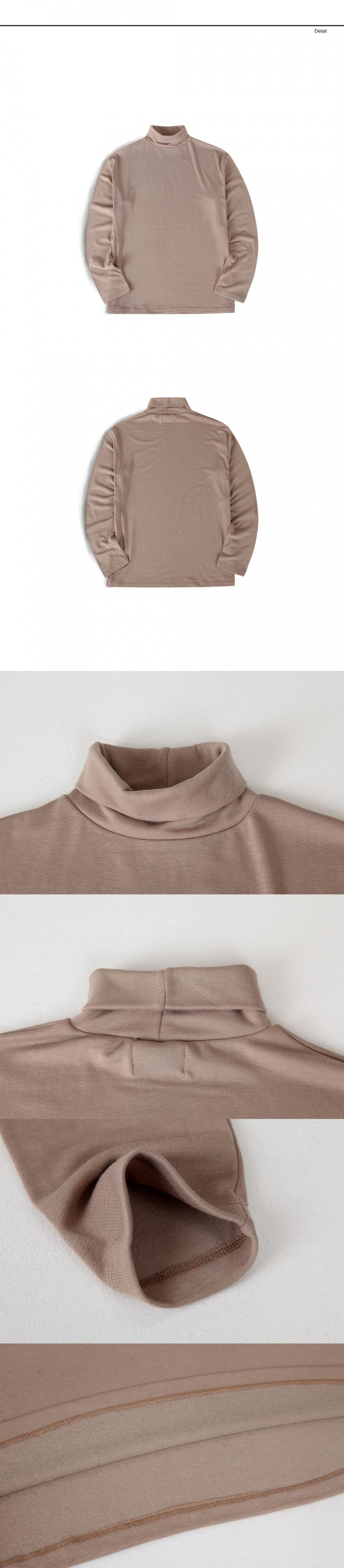 랩12(LAB12) 19S/S 터틀넥 티셔츠 (베이지)