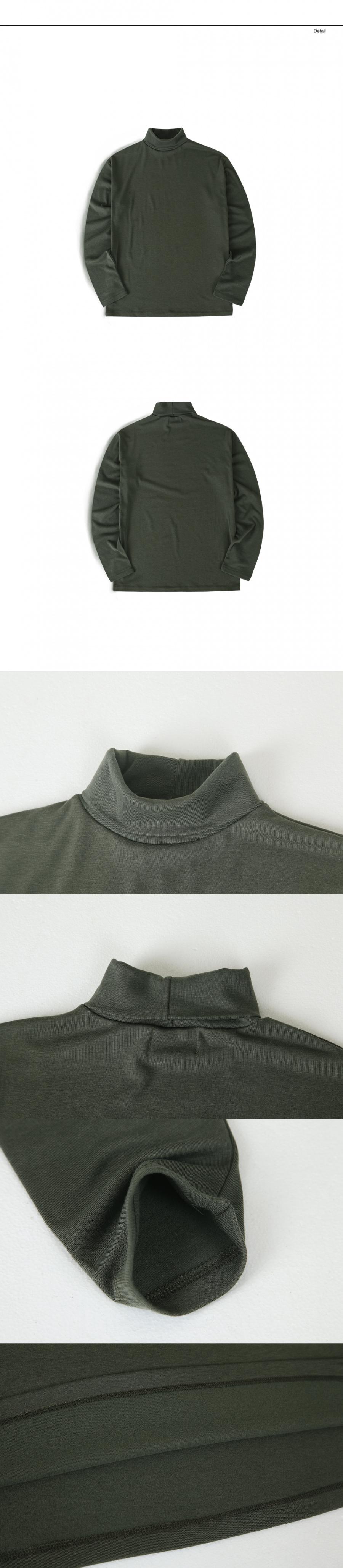 랩12(LAB12) 19S/S 터틀넥 티셔츠 (카키)