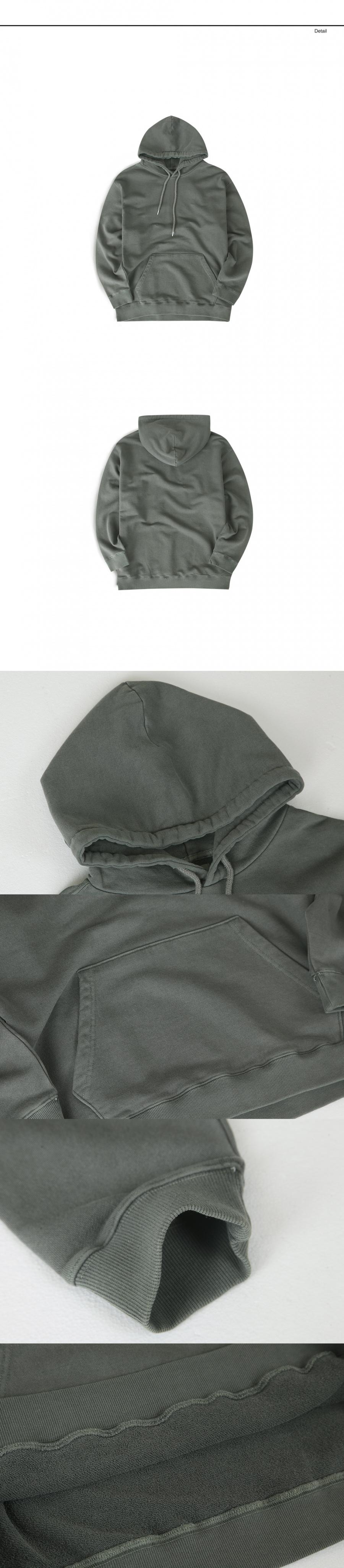 랩12(LAB12) 19S/S 오버핏 후드 스웻셔츠 (피그먼트카키)