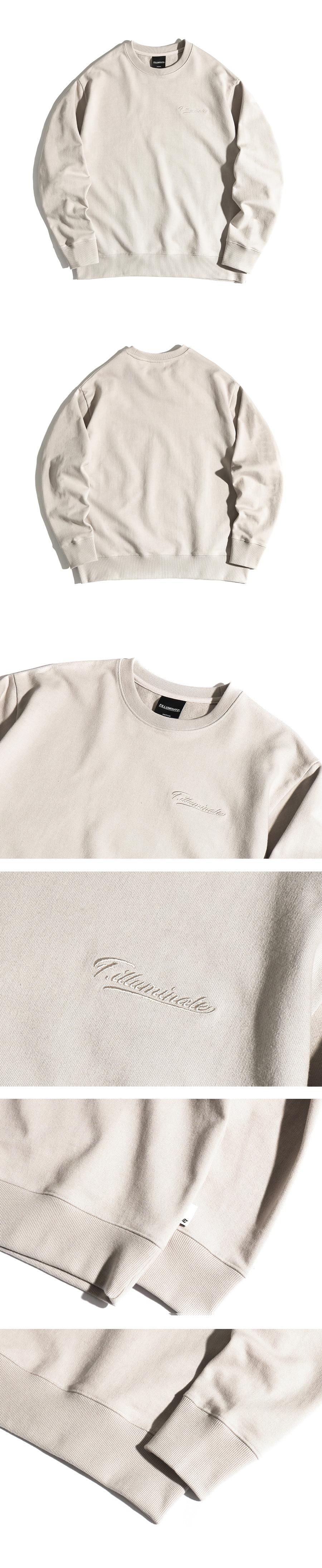 필루미네이트(FILLUMINATE) 유니섹스 베이직 모던 스웨트 셔츠-베이지