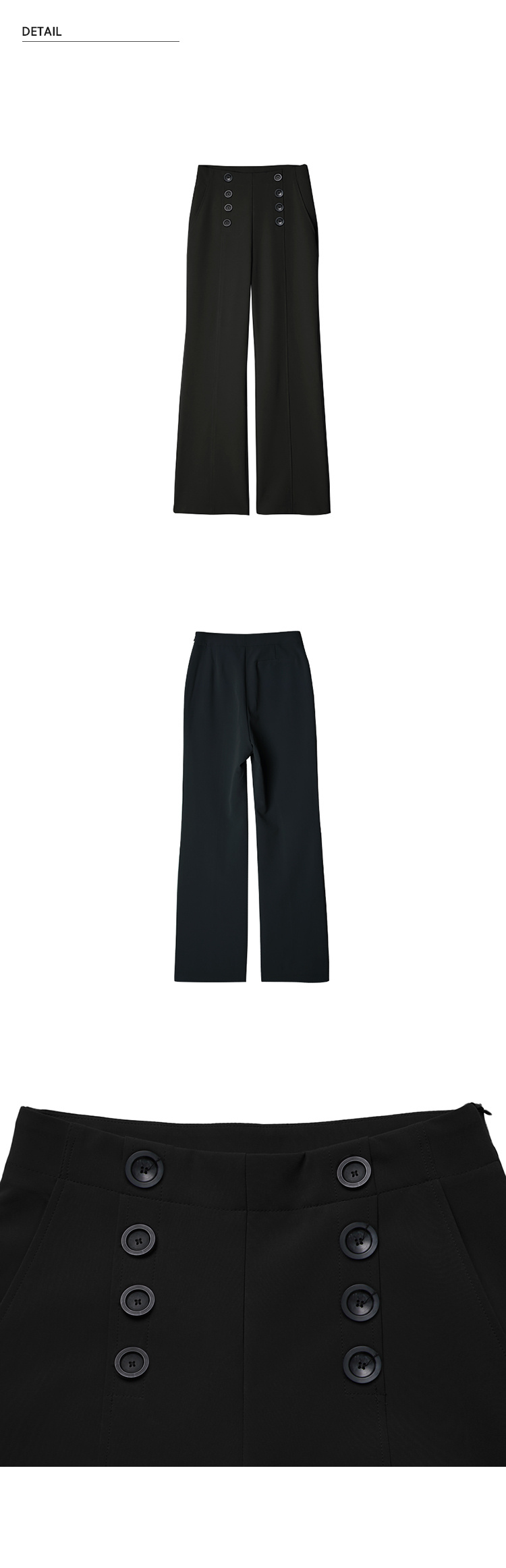 몬츠(MONTS) 852 button slacks (black)