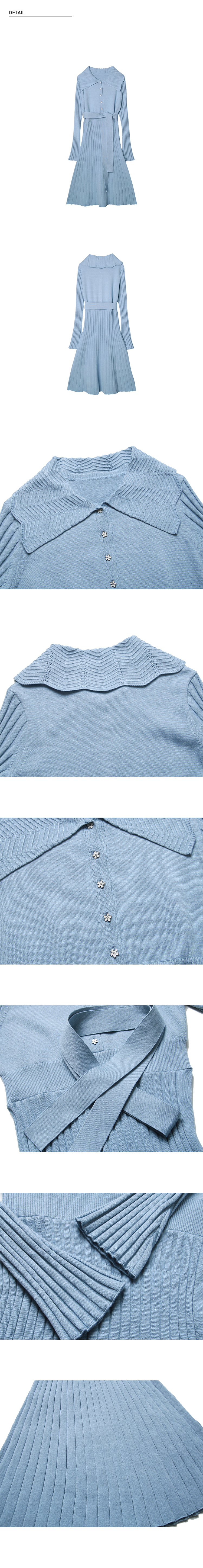 몬츠(MONTS) 856 sailor collar knit ops (light blue)