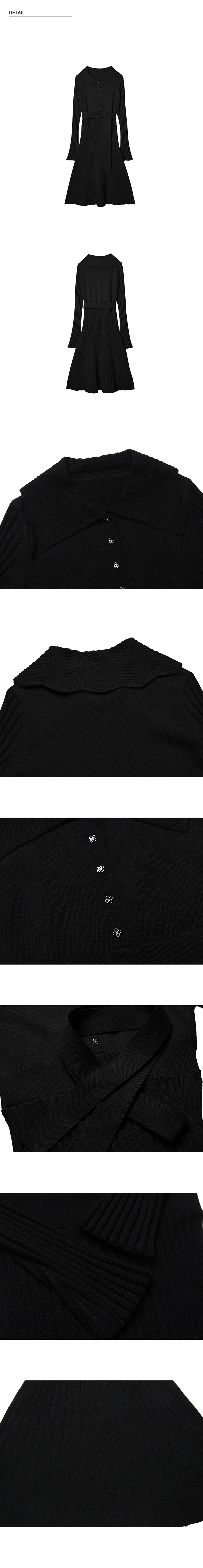 몬츠(MONTS) 857 sailor collar knit ops (black)