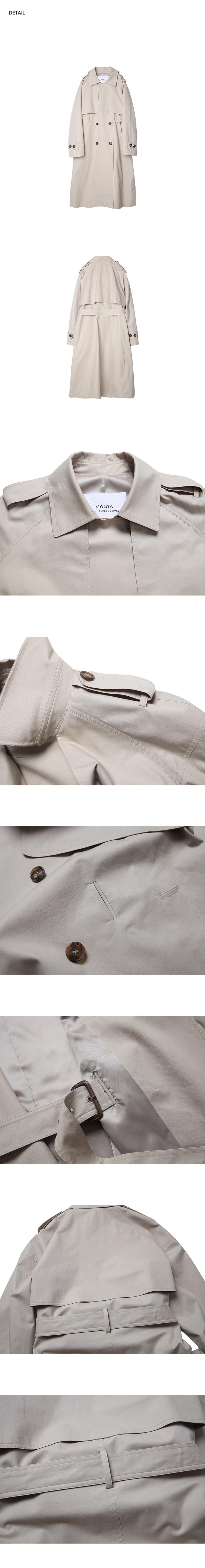 몬츠(MONTS) 883 belted slit trench coat (beige)
