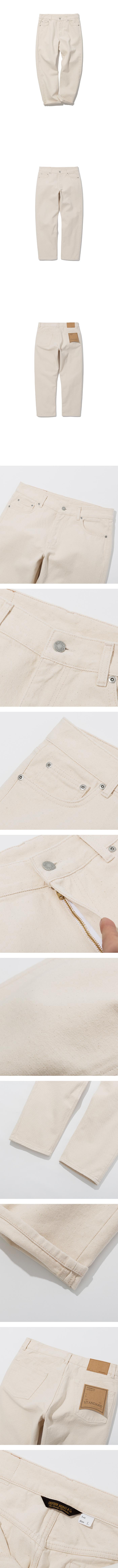 유니폼브릿지(UNIFORM BRIDGE) washing crop denim pants natural