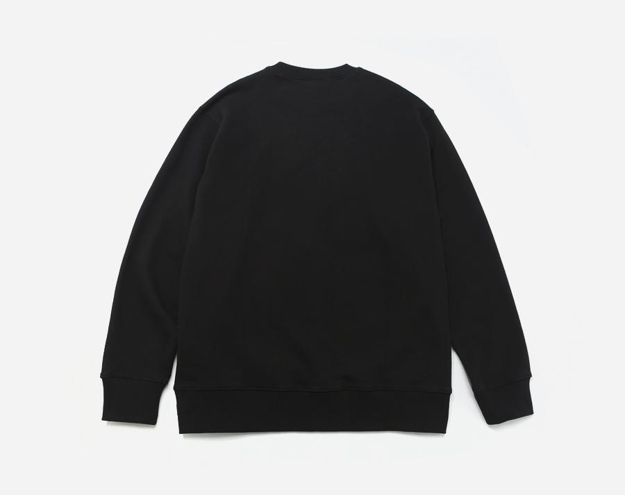 커버낫(COVERNAT) LINE JERSEY LOGO CREWNECK BLACK