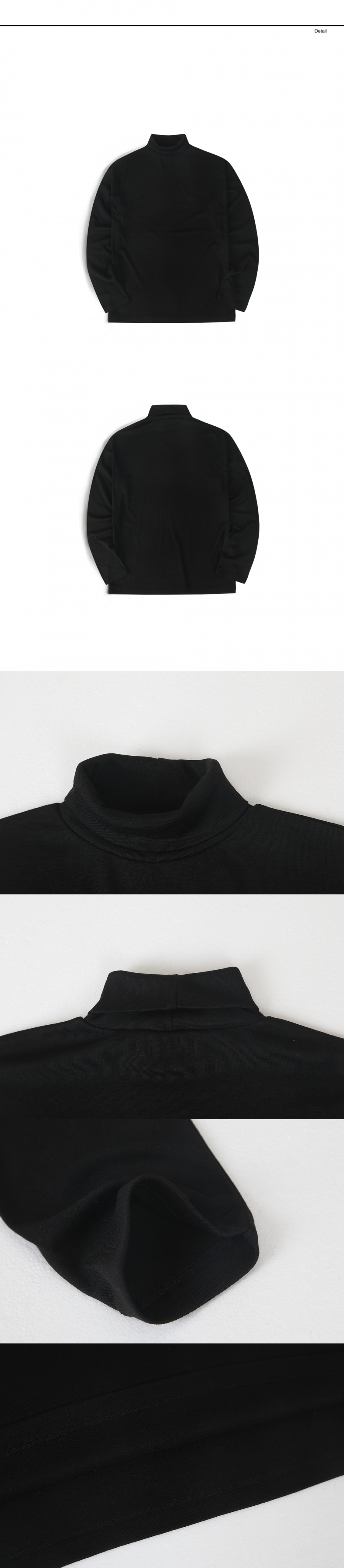 랩12(LAB12) 19S/S 터틀넥 티셔츠 (블랙)