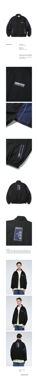 디스이즈네버댓(THISISNEVERTHAT) T-Court Track Jacket  Black