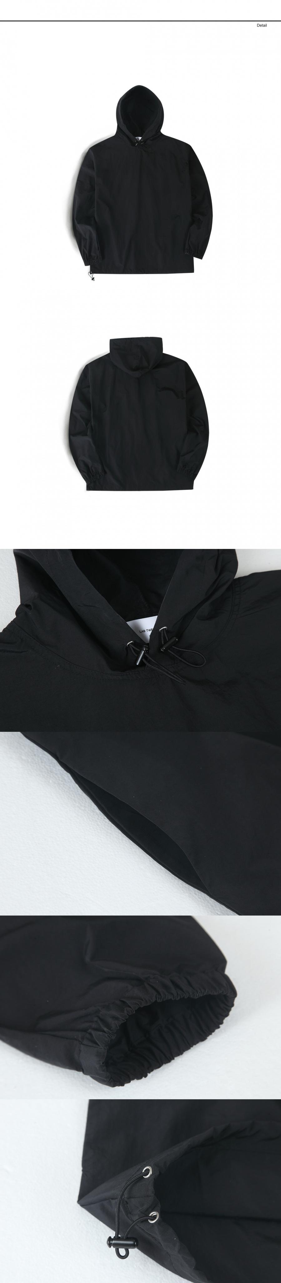 랩12(LAB12) 19S/S 나일론 아노락 자켓 (블랙)