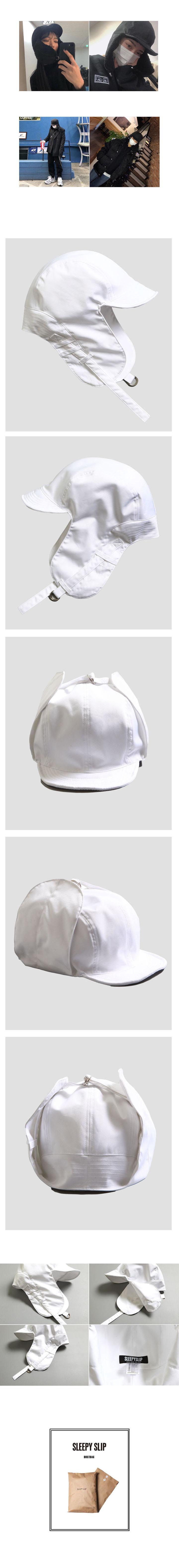 슬리피슬립(SLEEPYSLIP) [unisex]S/S SATIN TROOPER HAT WHITE