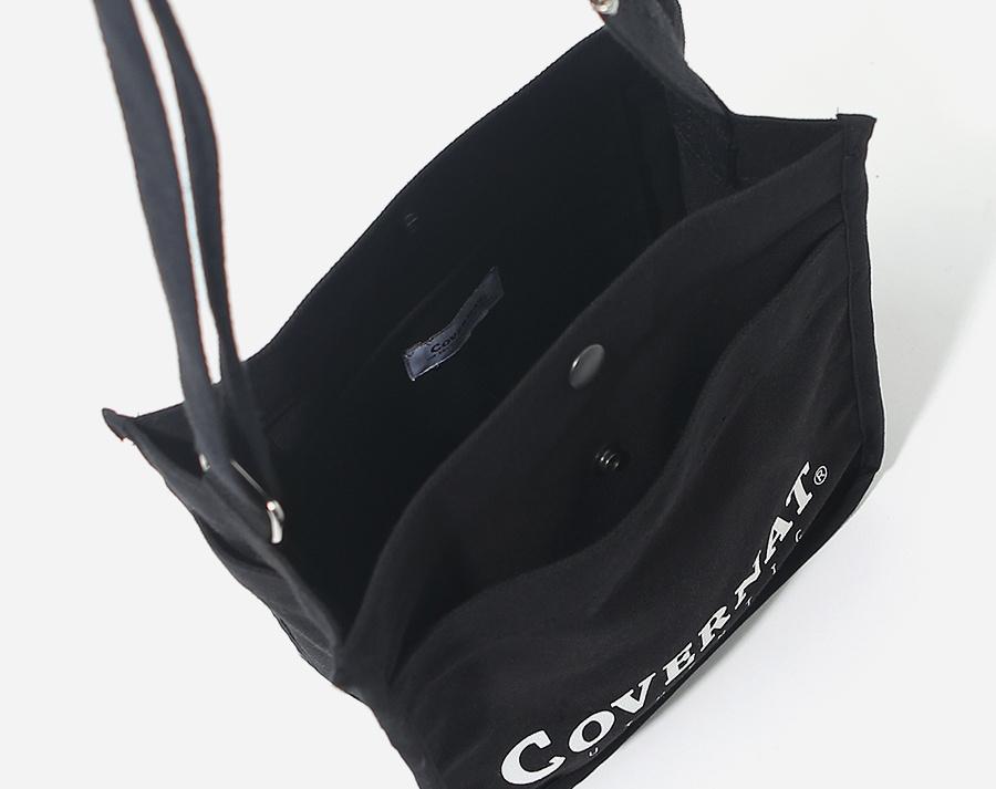커버낫(COVERNAT) AUTHENTIC LOGO SMALL CROSS BAG BLACK