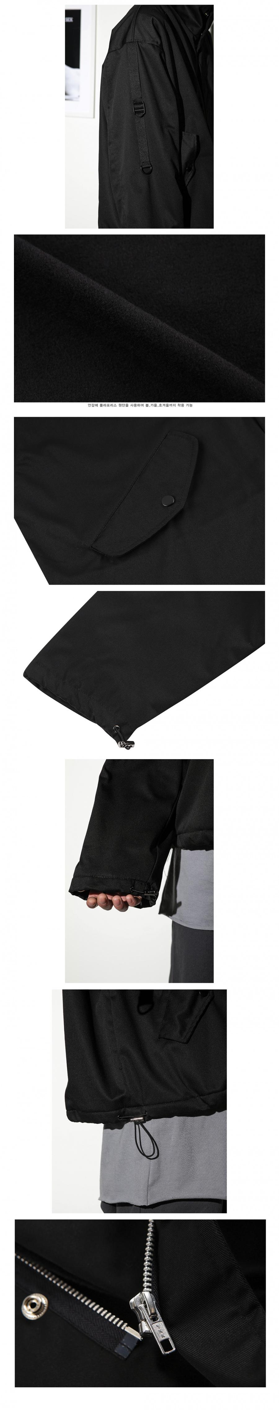 플레어업(FLAREUP) 오버핏 M-65 숏자켓 / 자켓 - 블랙 (FU-020)