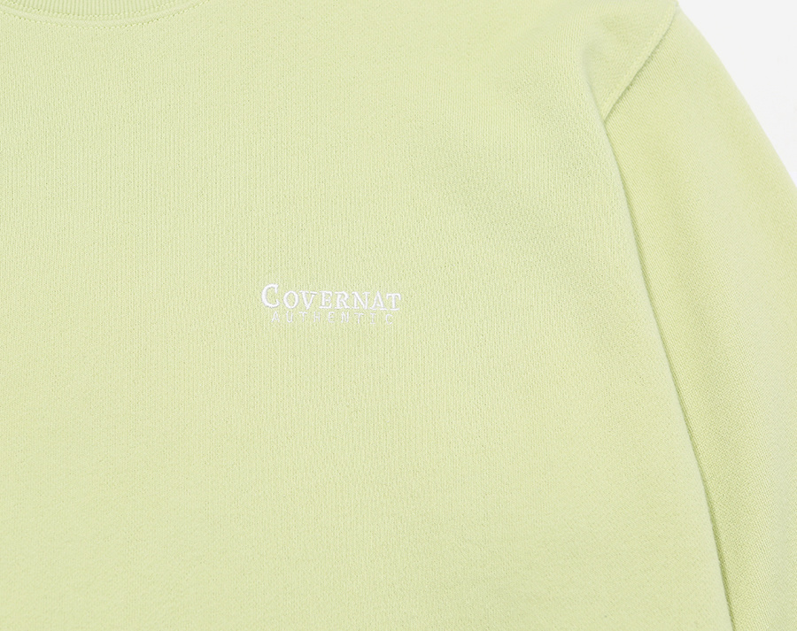 커버낫(COVERNAT) SMALL AUTHENTIC LOGO CREWNECK CORAL GREEN