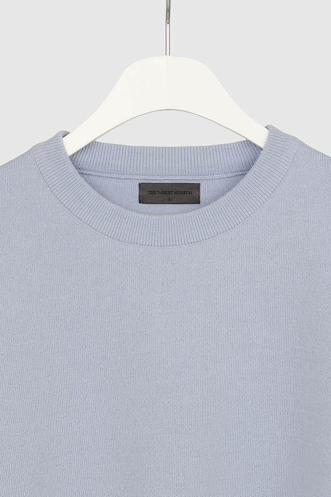 더 티셔츠 뮤지엄(THE T-SHIRT MUSEUM) 19ss essential wool knit [sky blue]